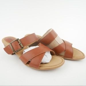 NIB boc Vareen 8 brown vegan leather sandals